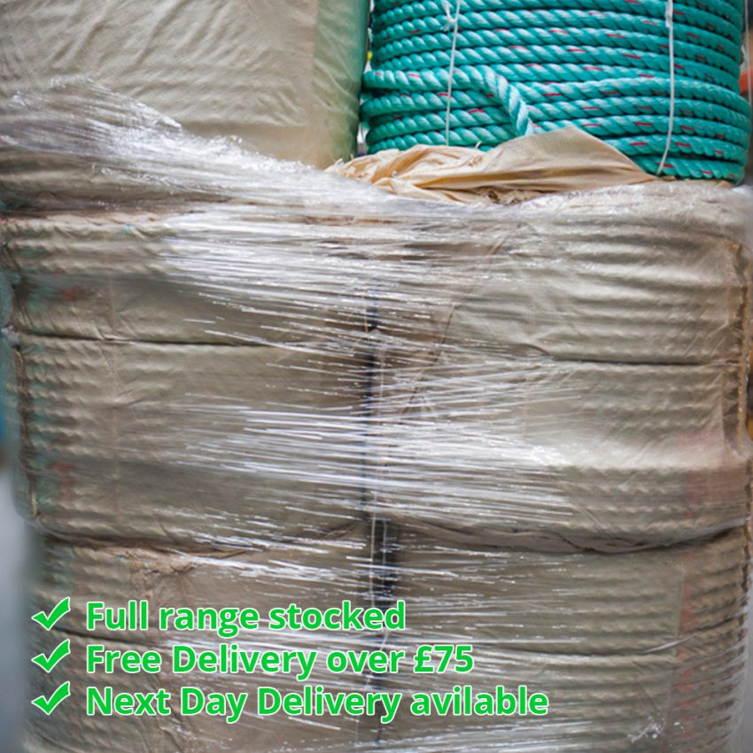 Green-Red-Flecks-Polysteel-Rope-coil-stack