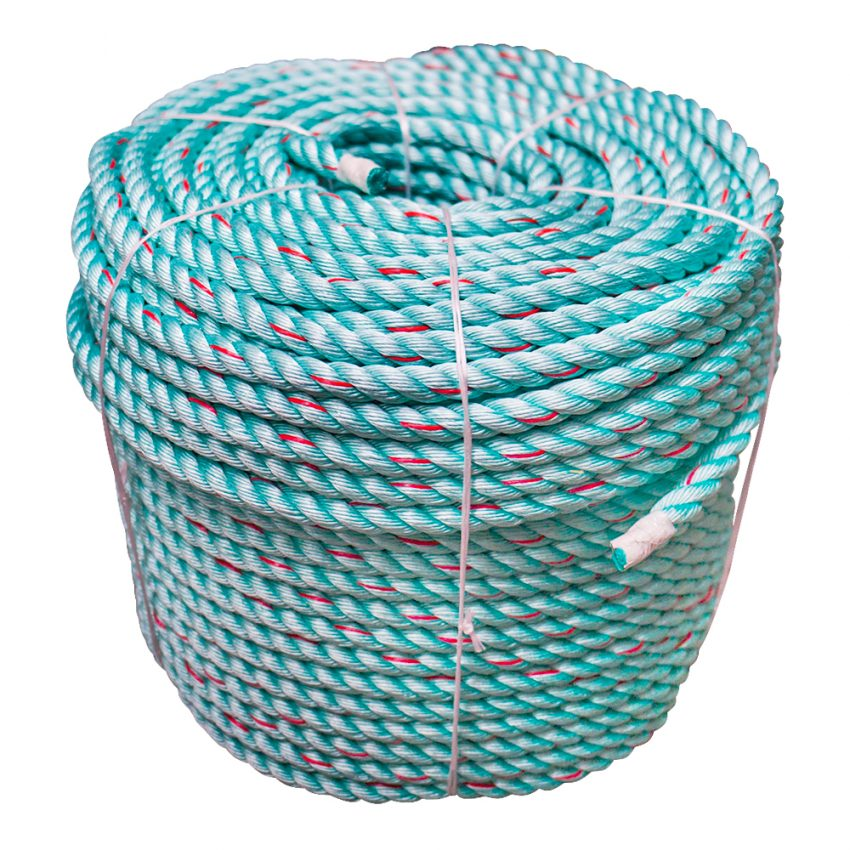 Green-Red-Flecks-Polysteel-Rope-coil-stand