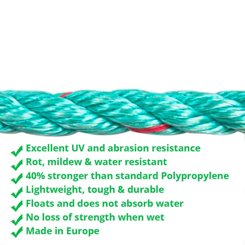 Green-Red-Flecks-Polysteel-Rope-coil-zoom