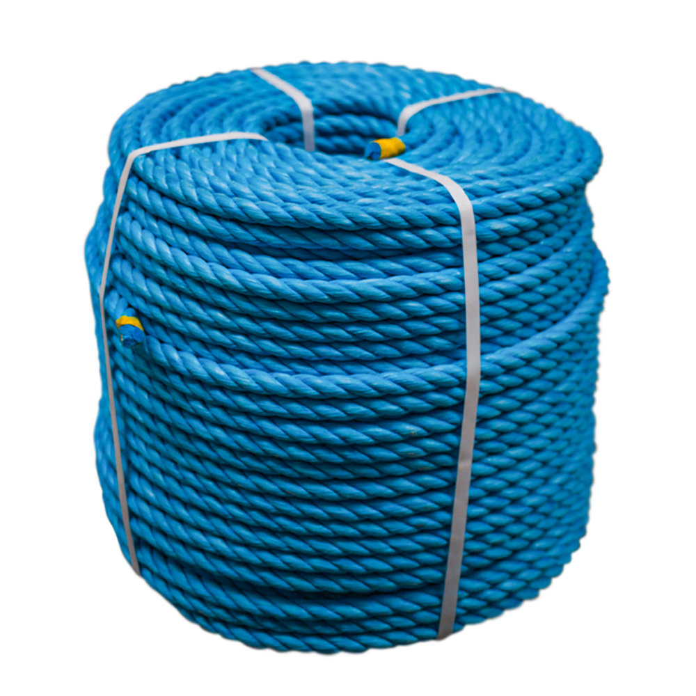NEW 10mm x 220m Coil Blue Heavy Duty Poly Rope Coils Polypropylene PP Pulley