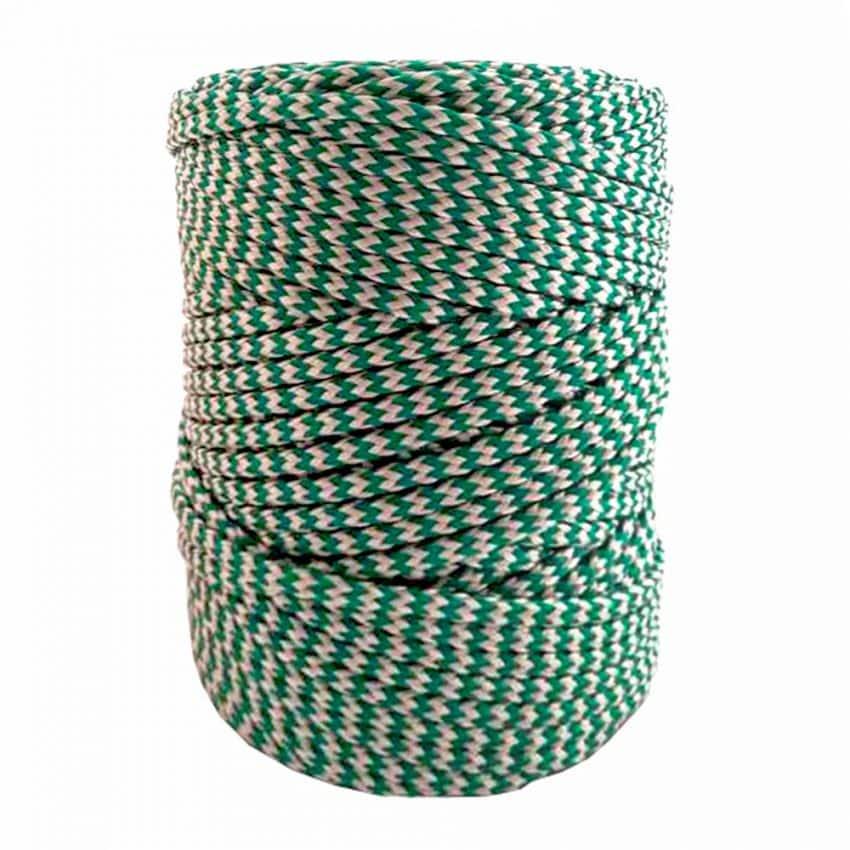 Green & White-Braided-Polyethylene-Twine