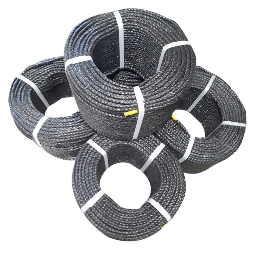 Black-Polypropylene-Rope-coil-stack