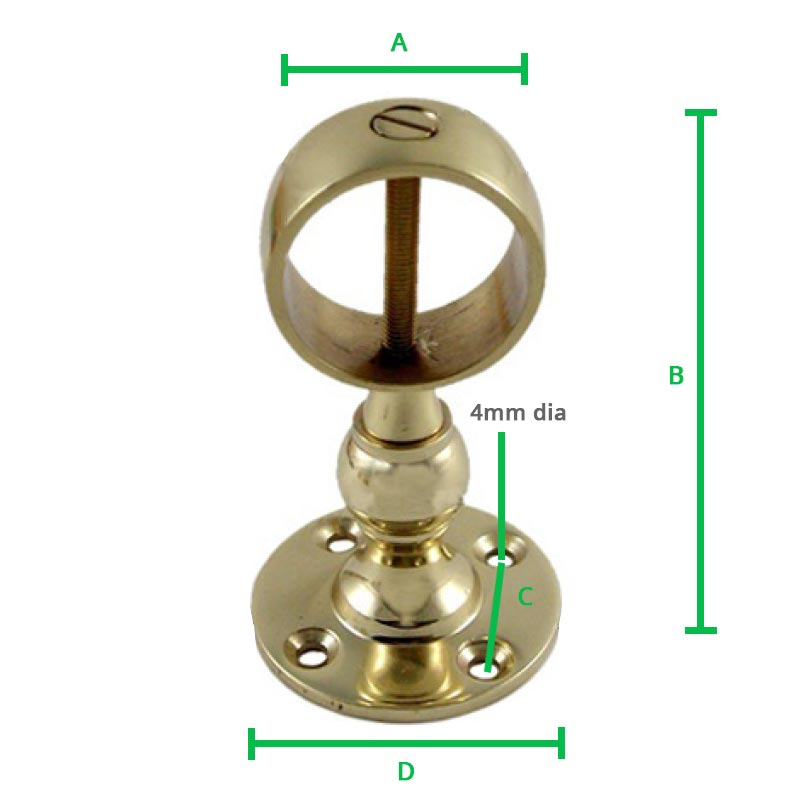 Brass-Centre-Bracket-Screw-dimension