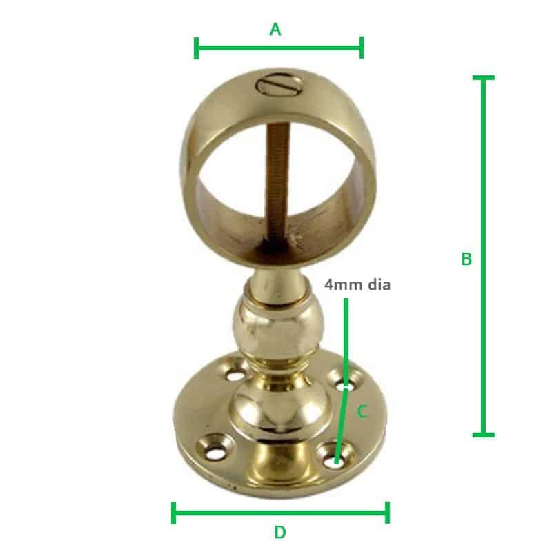 Brass-Centre-Bracket-Screw-dimension