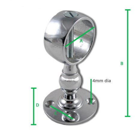 Chrome-Centre-Bracket-Screw-dimension