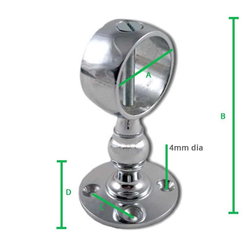 Chrome-Centre-Bracket-Screw-dimension