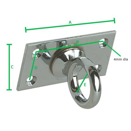 Decking Rope Eye Plate