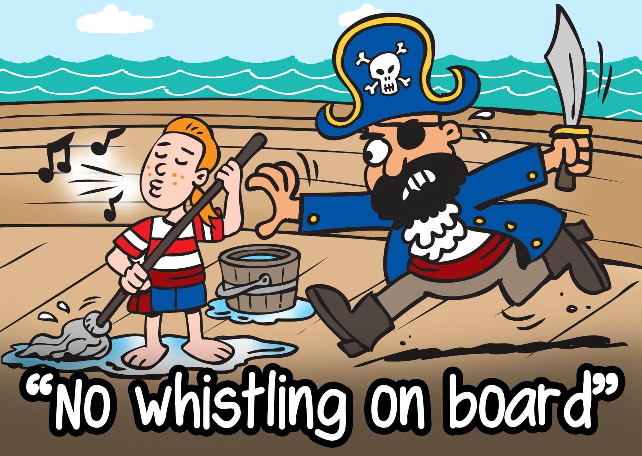 no-whistlin-on-board